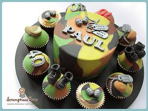 Big Cake Little Cakes : In The Army - Cake by Scrumptious Buns