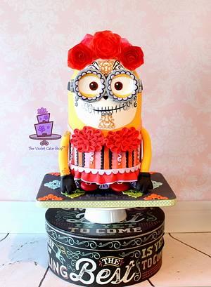 DAVETRINA - 3D Minion Skull Cake for Sugar Skull Bakers 2014 Collab - Cake by Violet - The Violet Cake Shop™