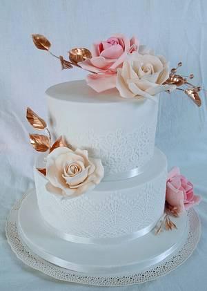 Wedding rose - Cake by alenascakes
