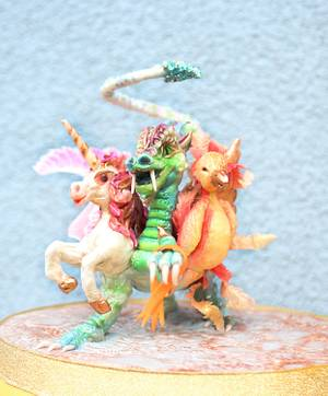 Chimera - Fantastical Beasts - Cake by Totally Sugar by Jacqui Kelly