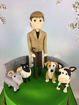 Farmer and his animals 30th birthday cake  - Cake by Melanie Jane Wright