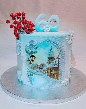 Winter romance - Cake by alenascakes