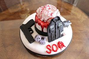 Sons Of Anarchy Tribute - Cake by Crazy Cupcake Lady Creations
