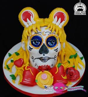 Sailormoon Sugar Skull - Cake by Jean A. Schapowal