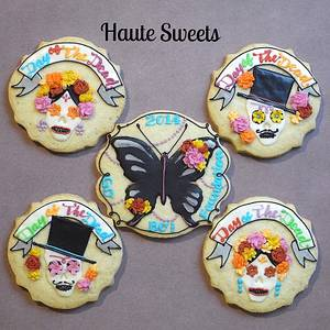 Day of the dead cookies for Go Bo! bake sale - Cake by Hiromi Greer