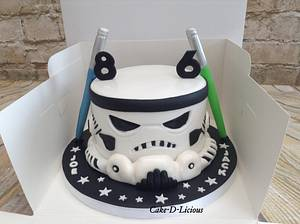Storm Trooper cake - Cake by Sweet Lakes Cakes