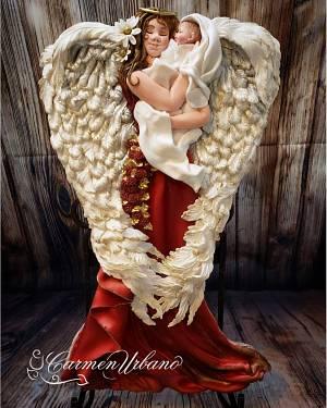 My Guardian Angel - Cake by Inspiration by Carmen Urbano