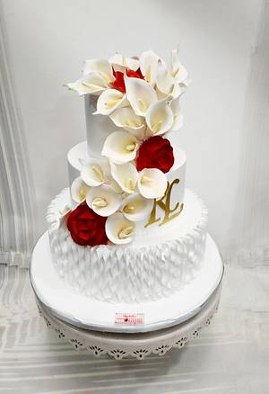 Timeless Love  - Cake by Michelle's Sweet Temptation