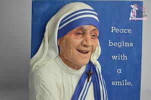 Mother Teresa - Incredible India Collab - Cake by Jenny Kennedy Jenny's Haute Cakes