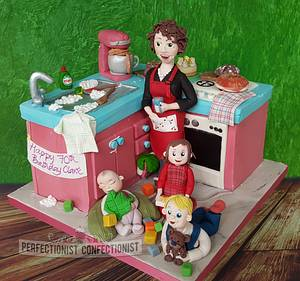 Clare - Everything and the kitchen sink 70th Birthday Cake - Cake by Niamh Geraghty, Perfectionist Confectionist
