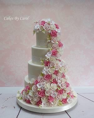 Cascading Roses - Cake by Carol