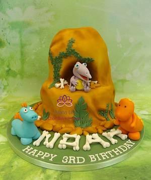 Dinosaur Mountain Cake - Cake by Alana Lily Chocolates & Cakes