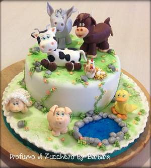 Old MacDonald had a farm E-I-E-I-O - Cake by Barbara Mazzotta