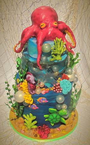 Under water  UV celebration cake - Cake by The Little Island Baker Cakes by Angela Roberts