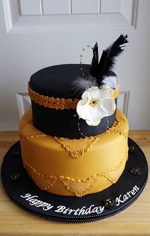 Great Gatsby/Charleston  - Cake by Enza - Sweet-E