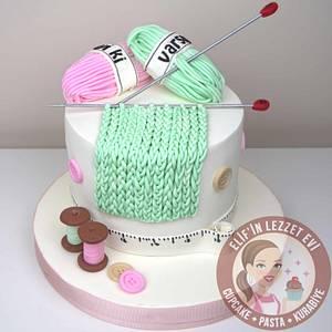 Knitting Cake - Cake by elifinlezzetevi