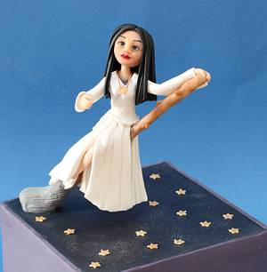 White Witch on a broom - Cake by Cakes by Christine