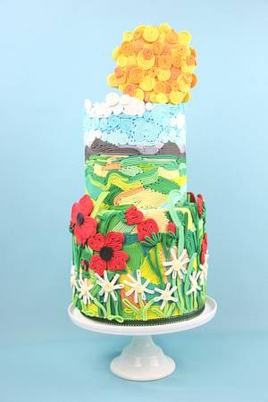 Twirly Whirly Summer Cake    - Cake by Artym