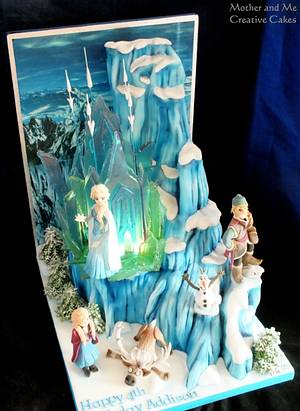 Our Biggest Frozen Cake to date! - Cake by Mother and Me Creative Cakes