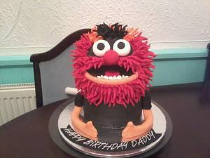 3D Animal from the Muppets cake - Cake by Kelly Robinson