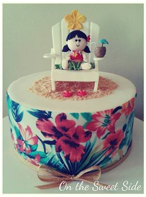 Hawaiian theme cake - Cake by Christy