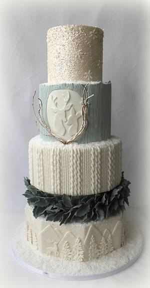 Winter Wedding - Cake by Lovely Sugar Art by Katarzyna Duda