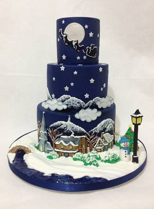 It's Christmas  for Cakes & Sugarcraft Mag - Cake by Dragons and Daffodils Cakes