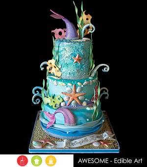 Mermaid Cake - Cake by Andres Enciso