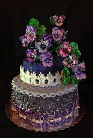 Violet cake  - Cake by WorldOfIrena