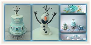Frozen themed dessert table  - Cake by Clairey's Cakery