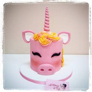 ❤🐽 Piggycorn 🐽❤ - Cake by Rafaela Carrasco (La Tartería de Rafi)