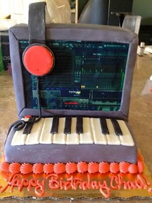 Computer musician cake. - Cake by Samantha Corey
