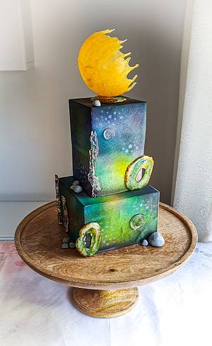 Gallaxy Cake - Cake by Anna Stasiak