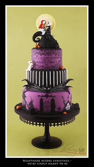 Nightmare Before Christmas Wedding Cake - Cake by Little Cherry