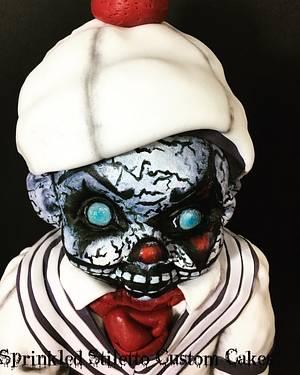 Creepy baby doll  - Cake by Tisha Frank