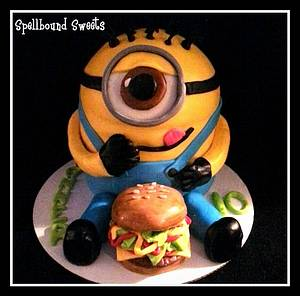 This Minion LOVES Cheeseburgers! - Cake by Bethanny Jo