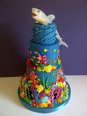 Shark Reef - Cake by CakeyCake