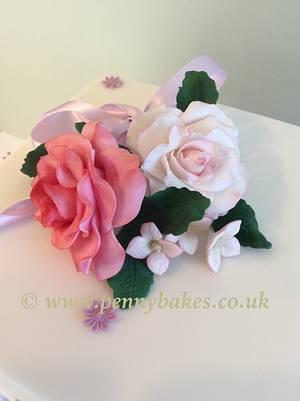 Sugar flower bouquet  - Cake by Penny Sue