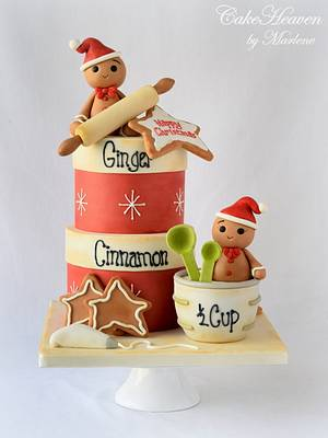 Christmas Baking Cake - Cake by CakeHeaven by Marlene