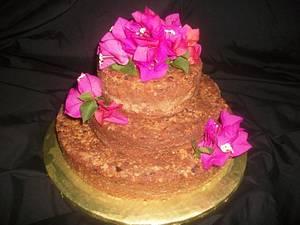 Rum Cake Wedding Cake - Cake by caymancake