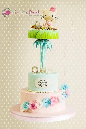 Hello Kitty Picnic Shabby Chic - Cake by HummingBread