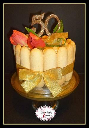 """Charlotte for golden wedding anniversary - Cake by """"Le torte artistiche di Cicci"""""""