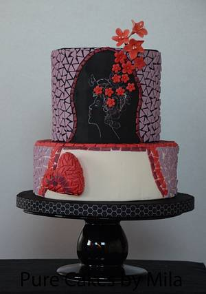 Blossoms and Mosaic - Cake by Mila - Pure Cakes by Mila