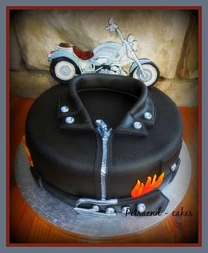 Biker cake - BMW 1200 C - Cake by Petraend