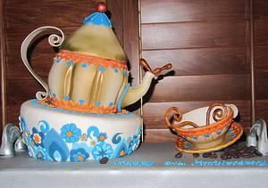 ♥ Teapot cake ♥ - Cake by Monika Zaplana