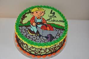 Buttercream, Bob The Builder Cake - Cake by Agnieszka