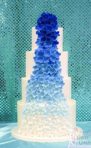 Ombré Flowers - Cake by Jenny Kennedy Jenny's Haute Cakes