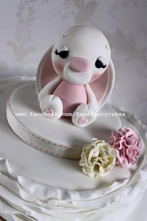 Bunny baby shower cake - Cake by Zoe's Fancy Cakes