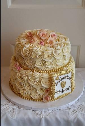 Buttercream Rosettes - Cake by Enza - Sweet-E