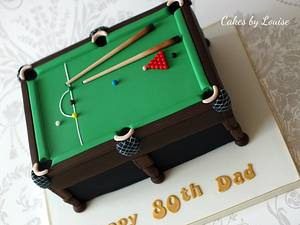 Snooker Table - Cake by Louise Jackson Cake Design